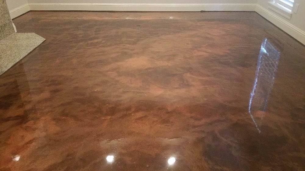 One Of The Hottest Trends In Decorative Concrete Floors Are Metallic Coatings That Allow Slax Installers To Heighten Effectake